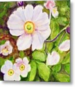 Anemones Birthday Card Metal Print