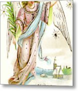 Angel  Carrying A Palm Branch Metal Print