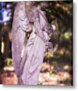Angel Linen Metal Print