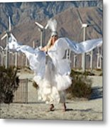 Angel Swirling In The Desert Metal Print