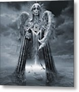 Angels And Demons Spirit Of Repentance And Hope Bw Metal Print