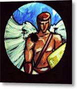 Angels Superhero pose Metal Print