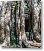 Angkor Roots Metal Print