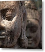 Angkor Warriors Metal Print