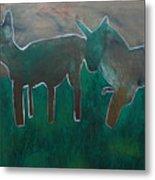 Animals In A Field Metal Print