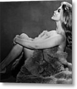 Ann-margret In Profile Pose And Wrapped Metal Print