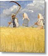 Anna Ancher - Harvesters Metal Print