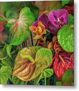 Anthurium Riot Metal Print