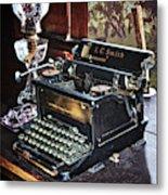 Antique Typewriter 2 Metal Print