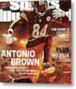 Antonio Brown 2015 Nfl Fantasy Football Preview Issue Sports Illustrated Cover Metal Print