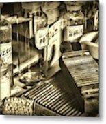 Apothecary-vintage Pill Maker Sepia Metal Print