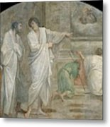 Apparition Of Saint Didacus Above His Sepulchre  Metal Print