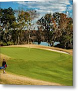Approaching The 18th Green Metal Print
