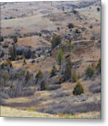 April Badlands Near Amidon Metal Print
