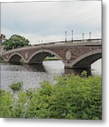 Arch Bridge Over River, Cambridge Metal Print