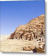 Archaeological Remains Of Petra Metal Print