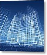Architectural Blueprint Designs For Metal Print