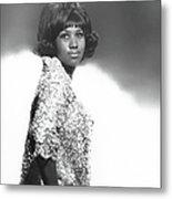Aretha Franklin Portrait Metal Print