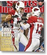 Arizona Cardinals Larry Fitzgerald, 2009 Nfc Divisional Sports Illustrated Cover Metal Print