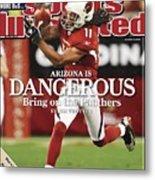 Arizona Cardinals Larry Fitzgerald, 2009 Nfc Wild Card Sports Illustrated Cover Metal Print