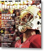 Arizona Cardinals Larry Fitzgerald, 2016 Nfl Football Sports Illustrated Cover Metal Print
