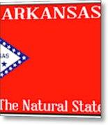 Arkansas State License Plate Metal Print