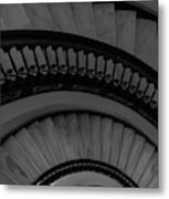 Arlington Stairs Layers Grayscale Metal Print