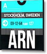 Arn Stockholm Luggage Tag II Metal Print