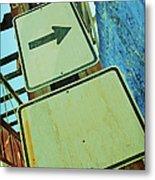 Arrow Sign Metal Print