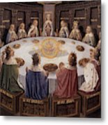 Arthurian Legend, The Knights Of The Round Table Metal Print