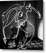 Artist Pablo Picasso Painting With Metal Print