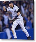 As V Yankees X Jeter Metal Print