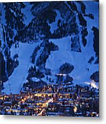 Aspen Mountain, Winter Metal Print