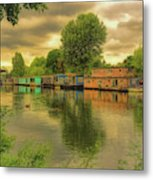 At Home On The River Metal Print