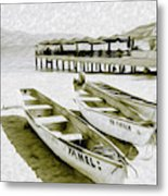 At The Pier In Acapulco Mexico Metal Print