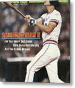 Atlanta Braves Dale Murphy... Sports Illustrated Cover Metal Print