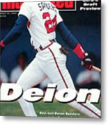 Atlanta Braves Deion Sanders... Sports Illustrated Cover Metal Print
