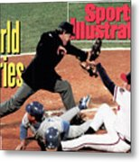 Atlanta Braves John Smoltz, 1992 World Series Sports Illustrated Cover Metal Print