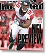 Atlanta Falcons Curtis Lofton, 2011 Nfl Football Preview Sports Illustrated Cover Metal Print