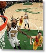 Atlanta Hawks V Milwaukee Bucks Metal Print