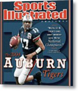Auburn University Qb Jason Campbell, 2004 Ncaa Perfect Sports Illustrated Cover Metal Print