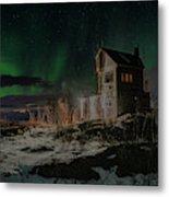 Aurora Borealis Over Harstad Metal Print