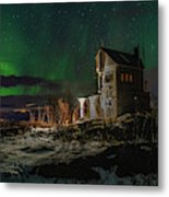 Aurora Over The Radio Station Metal Print