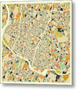 Austin Map 1 Metal Print