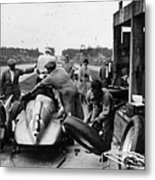 Auto Union In The Pits During A Grand Metal Print