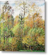 Automne, Peupliers, Eragny - Digital Remastered Edition Metal Print