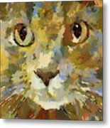 Autumn Cat Metal Print