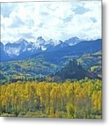 Autumn Colors In The Sneffels Mountain Metal Print
