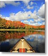 Autumn In A Canoe Metal Print