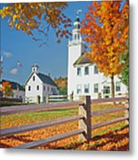 Autumn In New Hampshire Metal Print